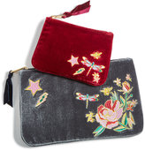 Celebrate Shop 2-Pc. Embroidered Velvet Pouch Set, Created For Macy's