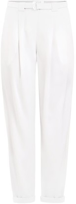 Paisie Peg Leg Trousers With D-Ring Belt In White