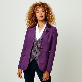 Joe Browns Fitted Tailored-Collar Blazer with Button Fastening