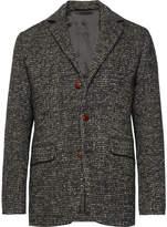 Aspesi - Navy Unstructured Tweed Blazer