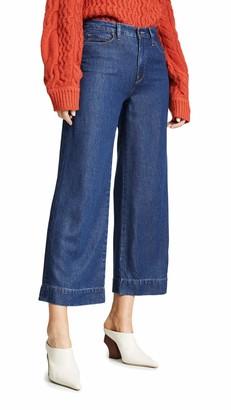 Hudson Women's Holly HIGH Rise Wide Leg Crop 5 Pocket Pant