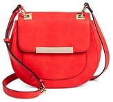 Women's Faux Leather Round Satchel Crossbody Handbag - Mossimo