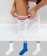 Pringle Sport Socks In 3 Pack With Stripe