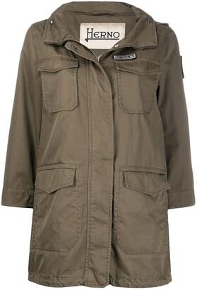 Herno Flap-Pocket Hooded Parka