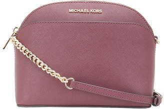 Michael Kors Women's Crossbodies MERLOT - Merlot Jet Set Travel Dome Leather Crossbody Bag