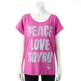 Soybu Women's Graphic Dolman Scoopneck Yoga Tee