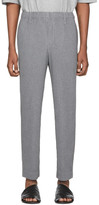 Issey Miyake Homme Plisse Grey Heather Pleats Cropped Trousers