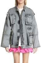 Stella McCartney Acid Wash Oversize Denim Jacket