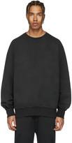 Yeezy Black Boxy Crewneck Sweatshirt