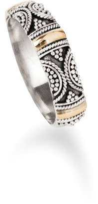 Aquila Jewellery Delicate Sterling Silver Band With 18K Gold - Brighton