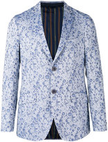 Etro floral jacquard two button jacket - men - Cotton/Polyester/Acetate/Cupro - 50
