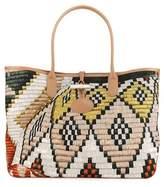 Longchamp Roseau Paniers Dart Shoulder Bag, Lime/Sienna