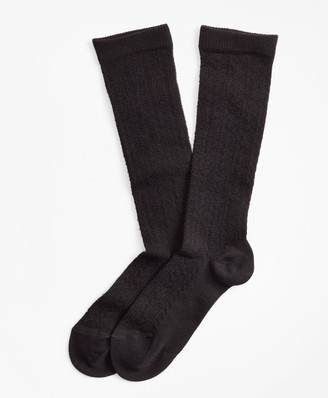 Brooks Brothers Stretch Cotton Herringbone-Knit Trouser Socks
