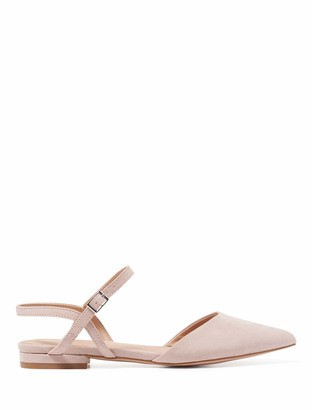 Forever New Priya Pointed Flat Shoes - Blush - 37