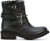 Ash studded buckle boots - women - Calf Leather/Leather/rubber - 37.5