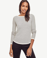 Ann Taylor Wave Jacquard Boatneck Sweater
