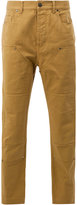 Lanvin panelled denim trousers - men - Cotton/Calf Leather/Polyester - 29