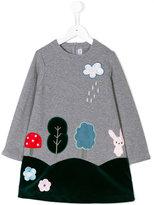 Simonetta patch-appliquéd dress