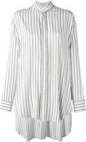 Etro elongated back striped shirt