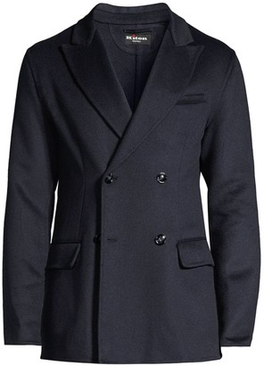 Kiton Cashmere Double-Breasted Jacket