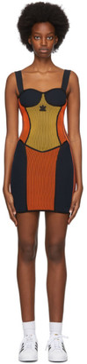 adidas Black Paolina Russo Edition Corset Dress