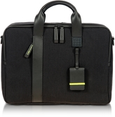 Bric's Black Nylon and Leather Briefcase