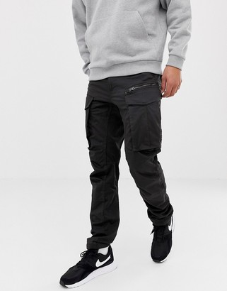 G Star G-Star Rovic tapered fit zip 3D cargo pants in black