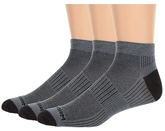 Wrightsock Coolmesh II Lo 3-Pair Pack (Grey) Low Cut Socks Shoes