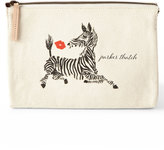 Parker Thatch Zebra Kiss Large Personalized Cosmetic Bag