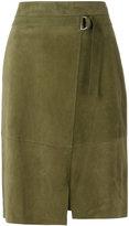 Steffen Schraut panelled skirt - women - Goat Suede - 36