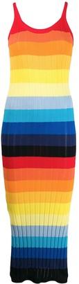 Parker Chinti & striped slip dress