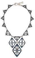 Lulu Frost Proxima Baguette Crystal Statement Necklace, Matte Black