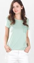 Esprit EDC - T-shirt w lace pocket