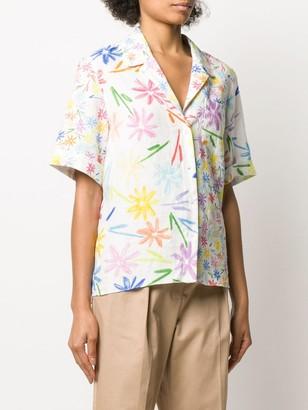 Mira Mikati linen floral print shirt