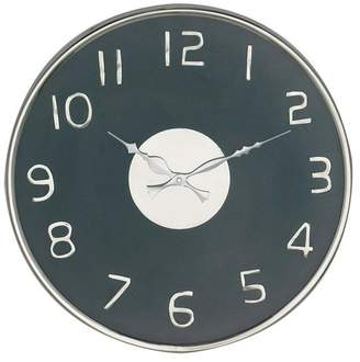 Brimfield & May Modern Round Stainless Steel Wall Clock