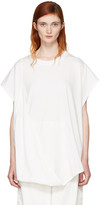 MM6 MAISON MARGIELA Off-white Asymmetric T-shirt