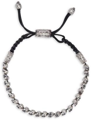 John Varvatos Skulls & Daggers Sterling Silver Skull Bead Adjustable Bracelet
