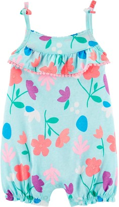 Carter's Baby Girl Floral Tank Jersey Romper