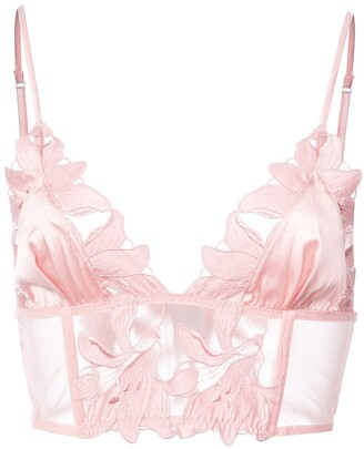 Fleur Du Mal Lily lace longline triangle bra