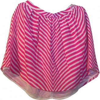 MSGM White Silk Skirt for Women