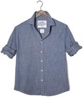 Frank And Eileen Mens Paul Italian Indigo Flannel Button Down Shirt