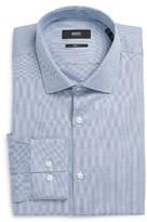BOSS Men's Ismo Slim Fit Geometric Dress Shirt