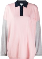 Loewe oversized colour-block knitted polo shirt
