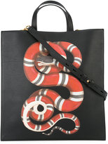 Gucci kingsnake print tote - women - Calf Leather/Polyester - One Size