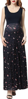Kimi and Kai Briar Floral Print Maternity Maxi Dress