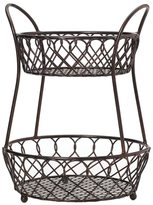 Mikasa Gourmet Basic By Loop And Lattice 2 Tier Basket Antique Black Finis