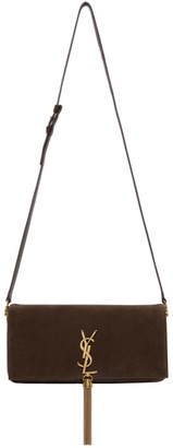 Saint Laurent Brown Suede Medium Kate 99 Tassel Bag