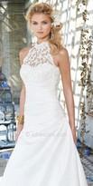 Camille La Vie Beaded Lace Halter Wedding Dress