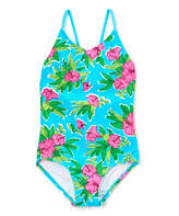 Kanu Surf Aqua Krista Floral One-Piece - Toddler & Girls