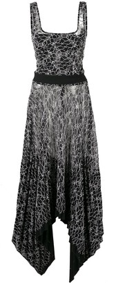 Dion Lee pleated lace corset dress